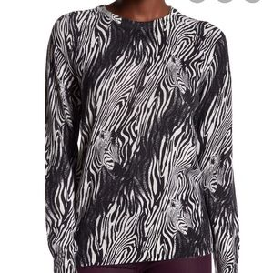 Equipment Sloane Zebra Print Cashmere Sweater
